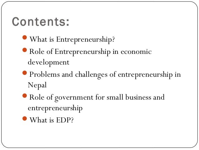 role of entrepreneurship in economic development International journal of management and social sciences research (ijmssr) issn: 2319-4421 volume 2, no 2, february 2013 i-xplore international research journal.