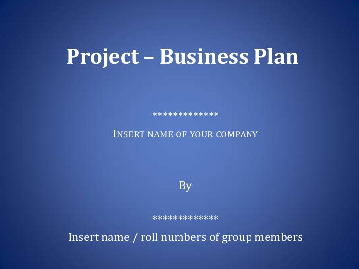 Entrepreneurship project business plan template project business plan what fbccfo Images