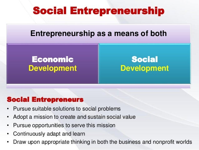 Social entrepreneurship in india