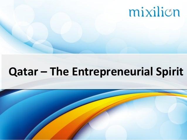 Qatar – The Entrepreneurial Spirit