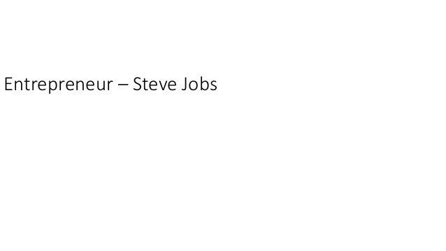 Entrepreneur – Steve Jobs
