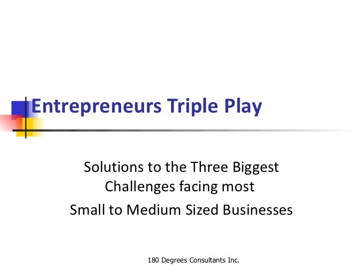 Entrepreneurs Triple Play     Solutions to the Three Biggest         Challenges facing most    Small to Medium Sized Busin...