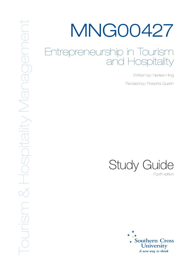 Tourism & Hospitality Management                                        MNG00427                                   Entrepr...