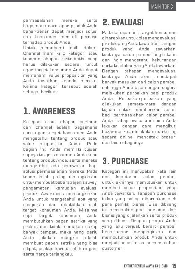 Entrepreneur Way #13 | BMC 19 Main Topic 1. Awareness 2. Evaluasi 3. Purchase permasalahan mereka, serta bagaimana cara ag...