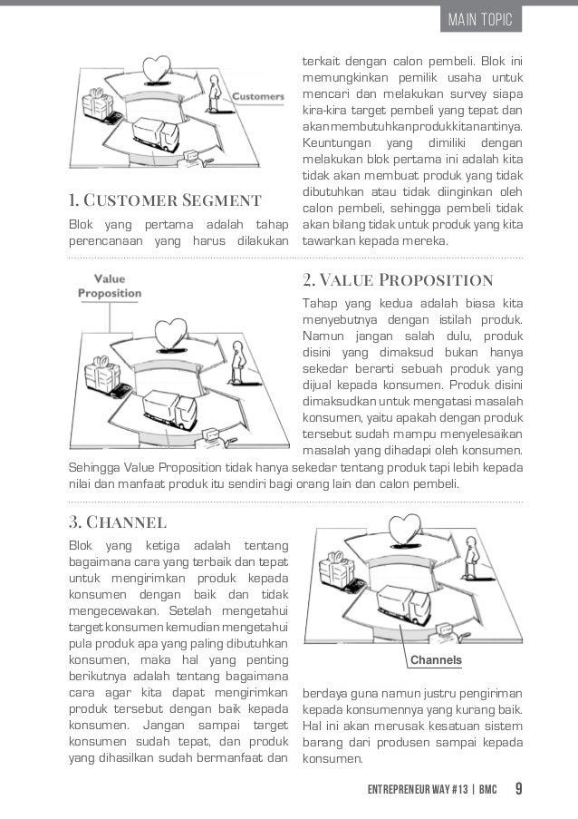 Entrepreneur Way #13 | BMC 9 Main Topic 1. Customer Segment Blok yang pertama adalah tahap perencanaan yang harus dilakuka...