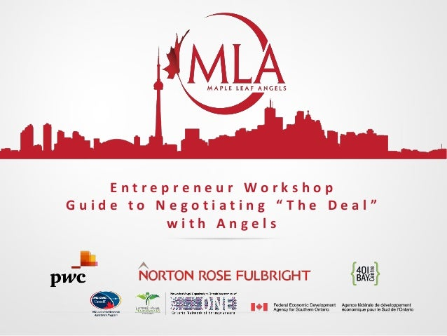 """Entrepreneur Workshop Guide to Negotiating """"The Deal"""" with Angels"""
