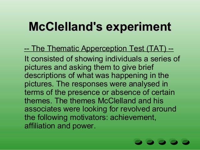 thematic apperception test mcclelland