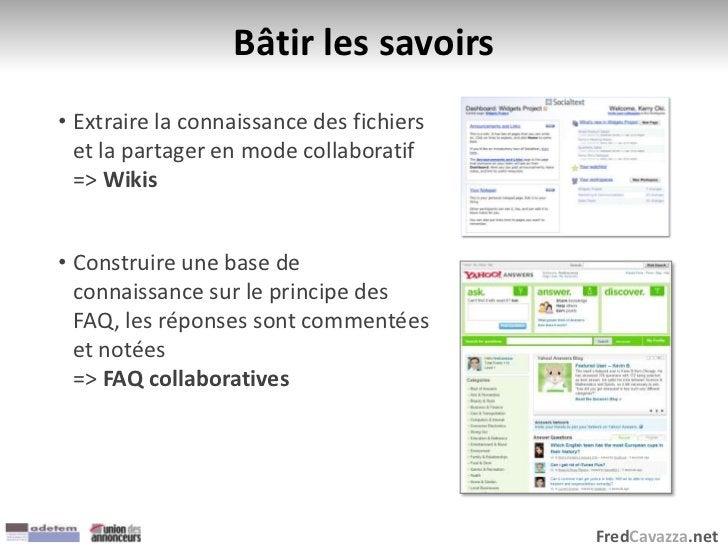 FredCavazza.net Bâtir les savoirs • Extraire la connaissance des fichiers et la partager en mode collaboratif => Wikis • C...