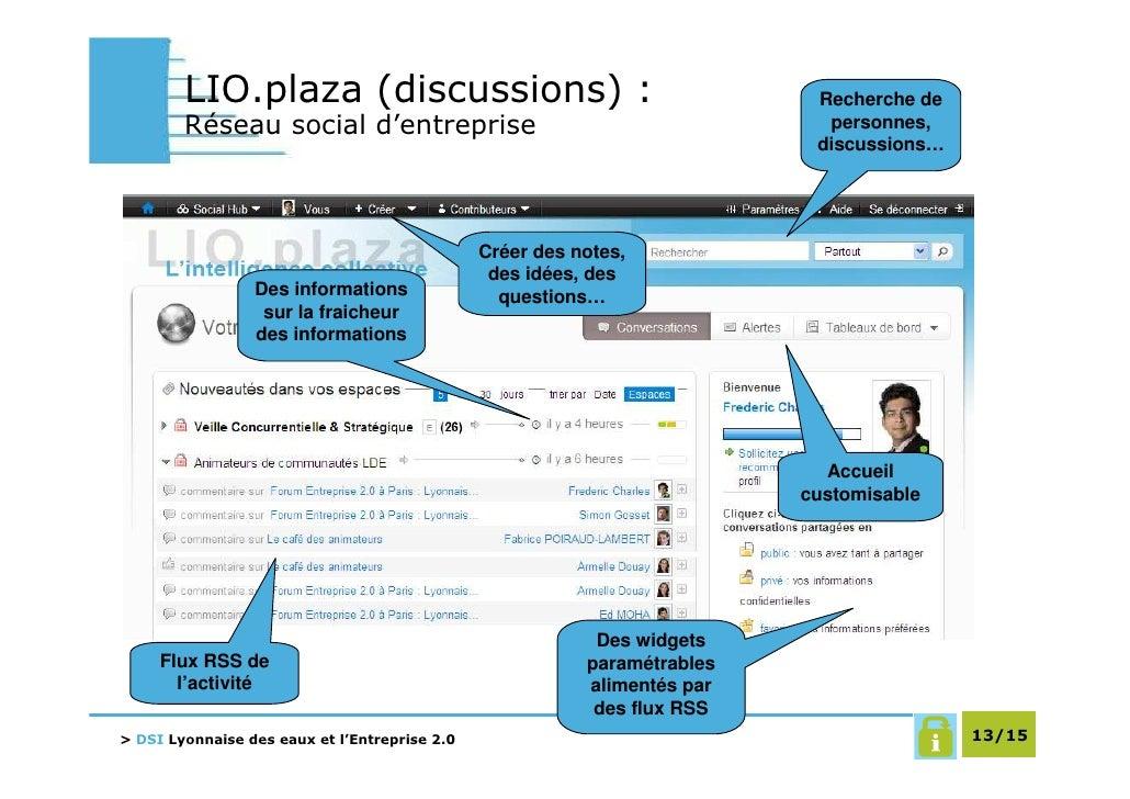 LIO.plaza (discussions) :                                          Recherche de         Réseau social d'entreprise        ...
