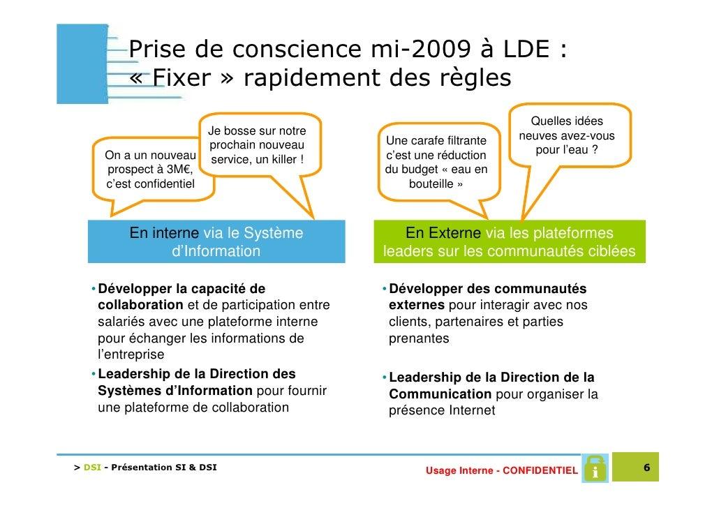 Prise de conscience mi-2009 à LDE :            « Fixer » rapidement des règles                                            ...