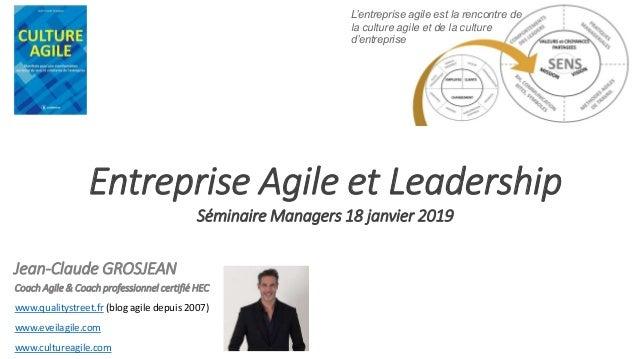 Coach Agile & Coach professionnel certifié HEC www.qualitystreet.fr (blog agile depuis 2007) www.eveilagile.com www.cultur...