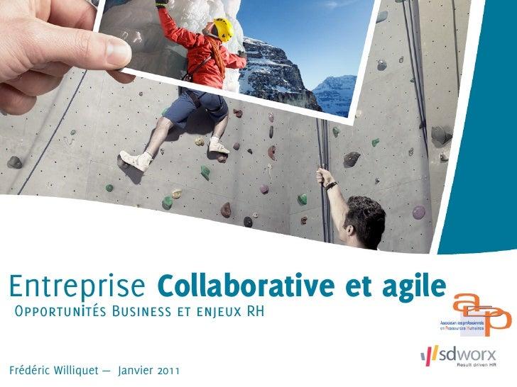Entreprise Collaborative et agileOpportunités Business et enjeux RHFrédéric Williquet — Janvier 2011