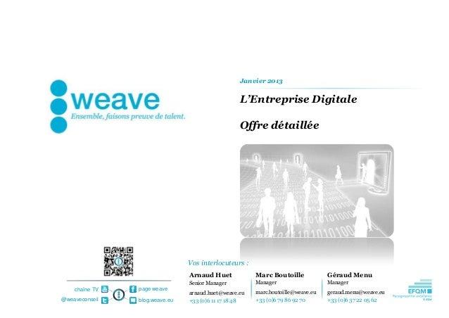 Janvier 2013                                                  L'Entreprise Digitale                                       ...