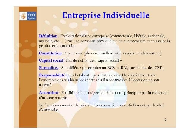 Entreprise individuelle ou societe 1 - Acte de propriete definition ...