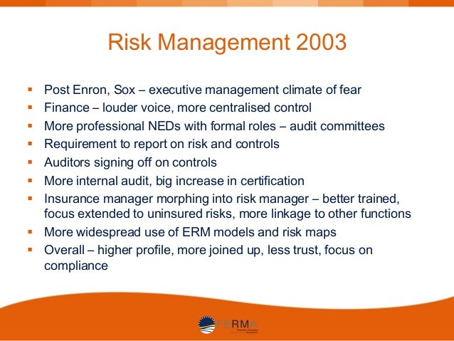 enron internal control Arthur andersen and enron  internal memos at andersen showed that there were  changes to the relationship between gaas and quality control.