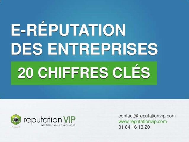 www.reputationvip.com E-réputation des entreprises : 20 chiffres clés contact@reputationvip.com www.reputationvip.com 01 8...