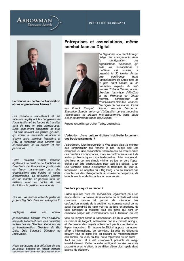 INFOLETTREDU18/03/2014           Ladonnéeaucentredel'innovation etdesorganisationsfutures!  Les mut...