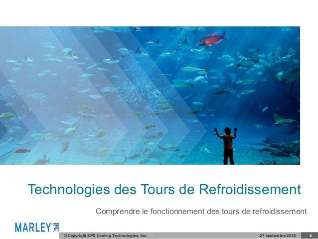 COMPANY CONFIDENTIAL© Copyright SPX Cooling Technologies, Inc. 27 septembre 2016 4 Technologies des Tours de Refroidisseme...