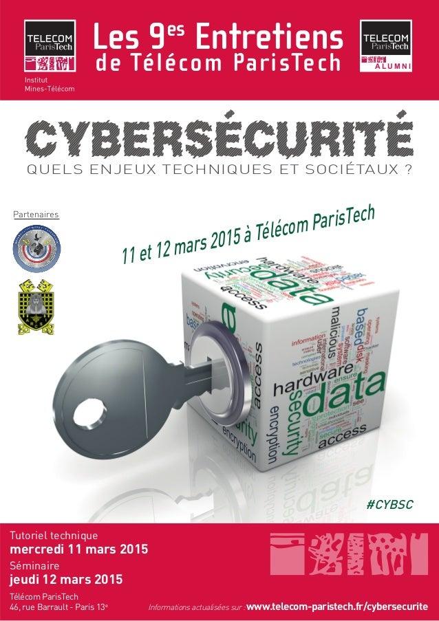 Les 9es Entretiens de Télécom ParisTech Télécom ParisTech 46, rue Barrault - Paris 13e A L U M N I Tutoriel technique merc...