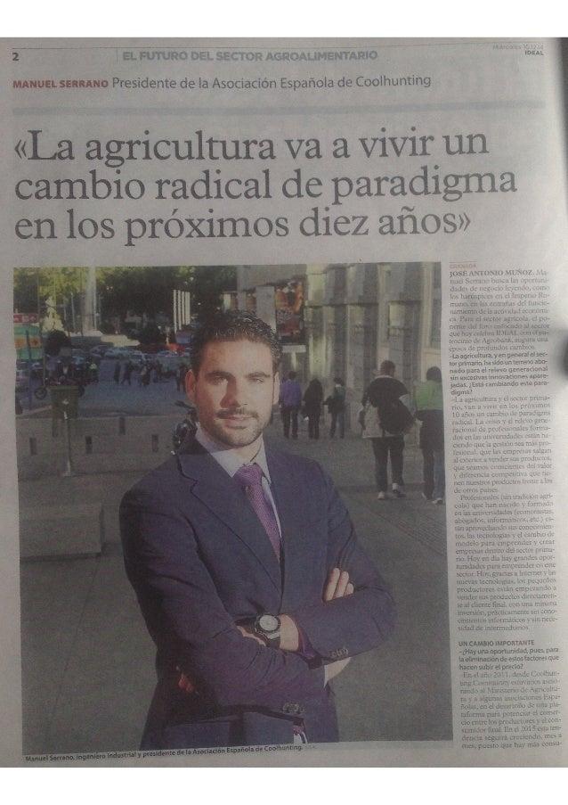 EL romeo bm.  32:32am' Acsncruxunsnïnnuo  ¡DE . '.l  MANUEL SERRANO Presidente de la Asociación Española de Coolhunting  «...