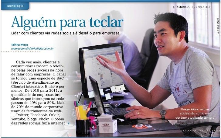 Entrevista sobre SAC 2.0 para o Jornal Diário Digital/MS