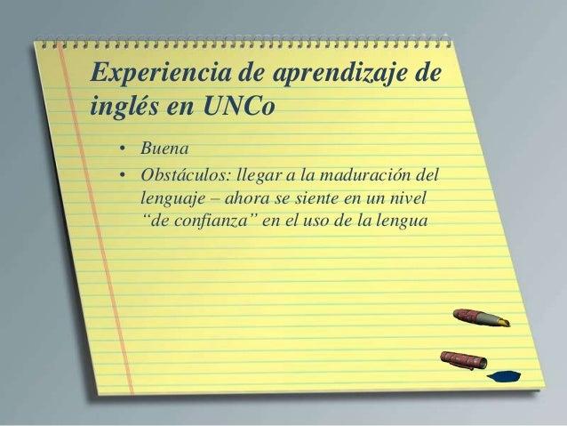 Entrevista 1   Opinión de estudiante del Traductorado de Inglés - UNCo Slide 3