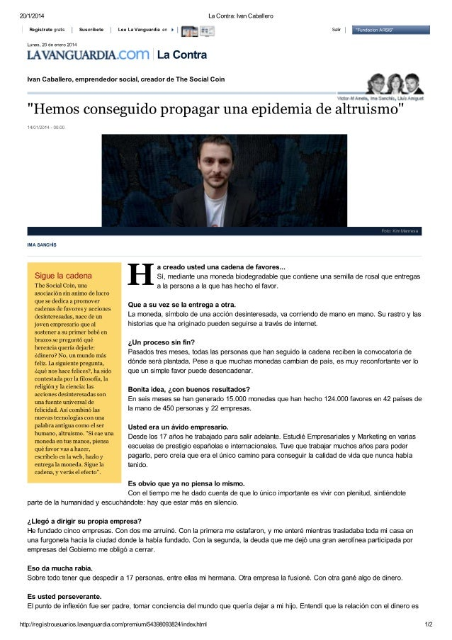 Entrevista a Iván Caballero  - Cadena de favores