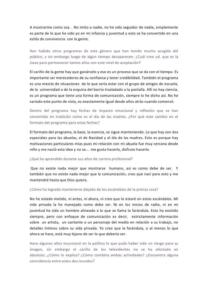 Entrevista Al  Un Ganador Que  Siemp M  L  Diaz 09