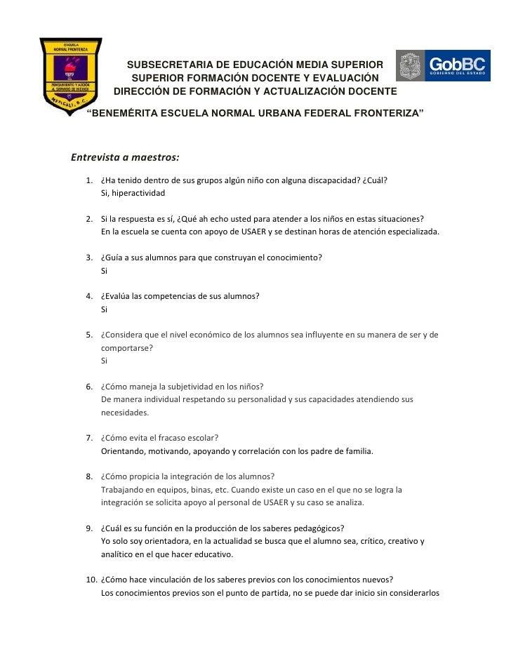 SUBSECRETARIA DE EDUCACIÓN MEDIA SUPERIOR             SUPERIOR FORMACIÓN DOCENTE Y EVALUACIÓN          DIRECCIÓN DE FORMAC...