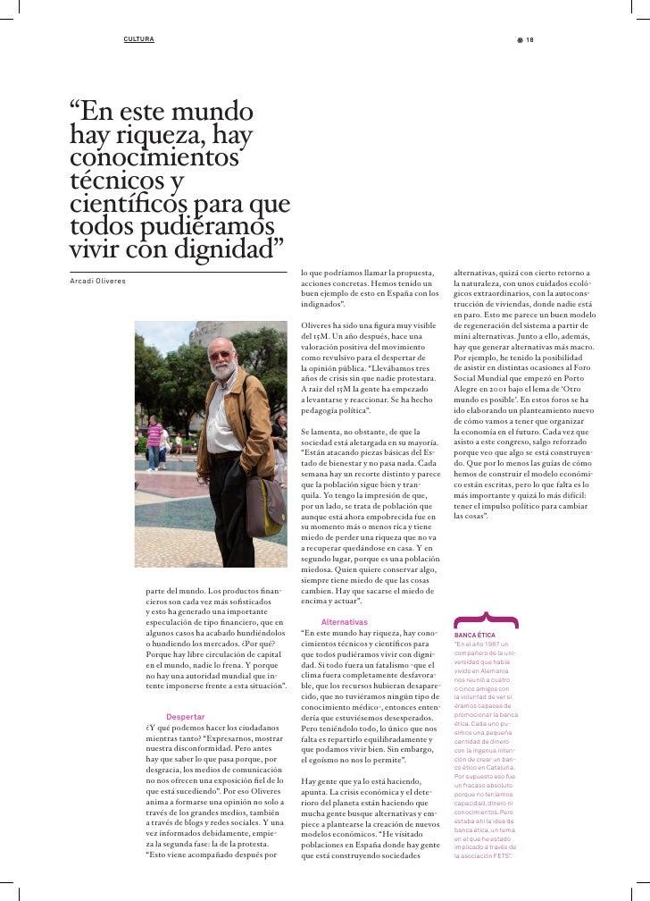 Revista Triodos 27: Entrevista a Arcadi Oliveres Slide 3