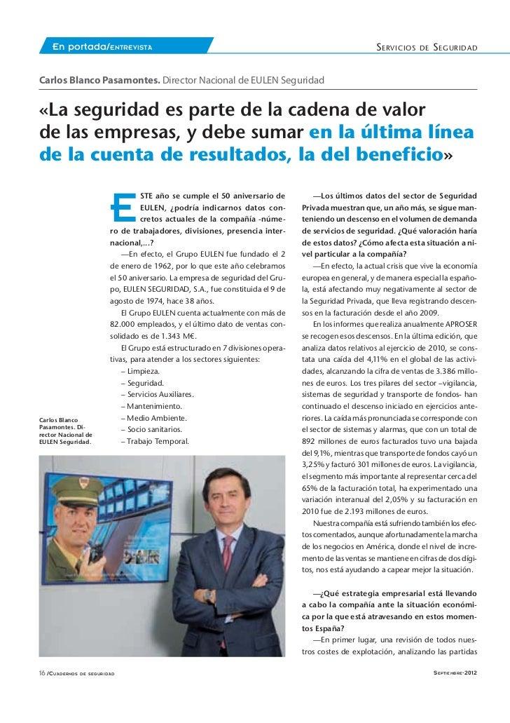 En portada/ENTREVISTA                                                                               S ERVICIOS    DE   S E...