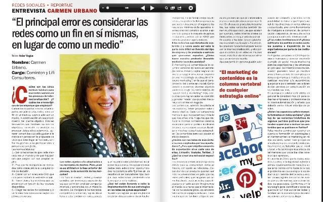 Redes sociales como vías de internacionalizacion. Entrevista revista Moneda Unica, junio 2014
