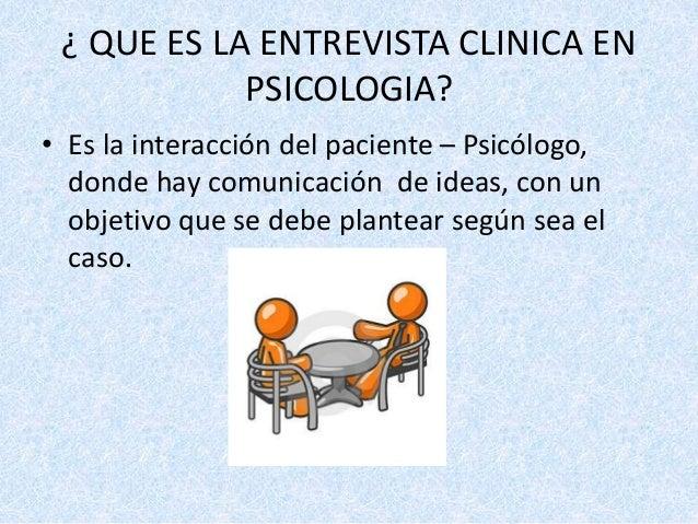 Entrevista clinica en psicologia for Que es divan en psicologia