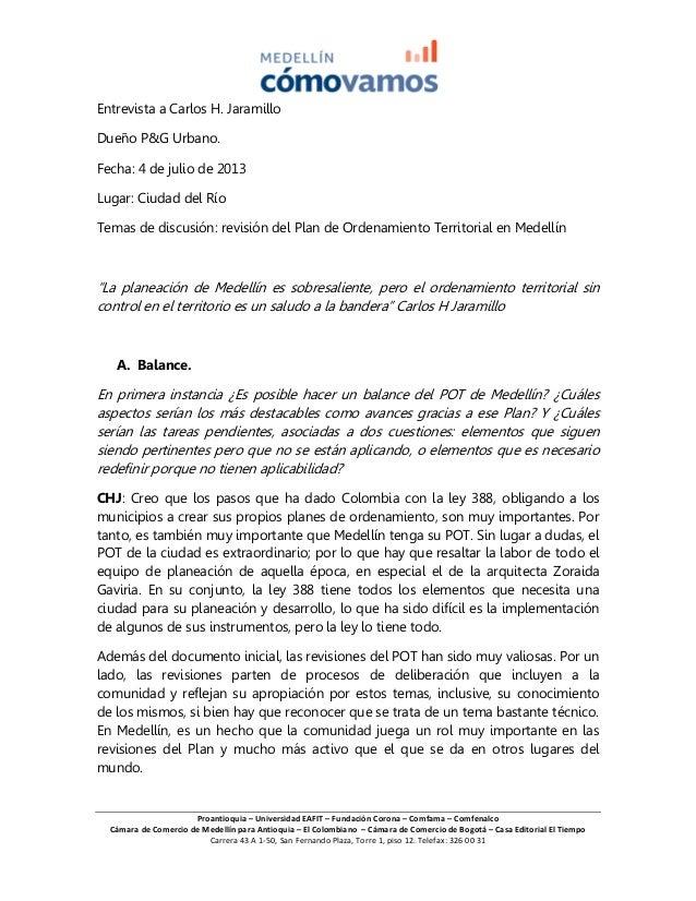 Proantioquia – Universidad EAFIT – Fundación Corona – Comfama – Comfenalco Cámara de Comercio de Medellín para Antioquia –...