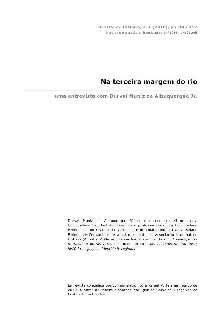 Revista de História, 2, 1 (2010), pp. 145-157                          http://www.revistahistoria.ufba.br/2010_1/e01.pdf  ...