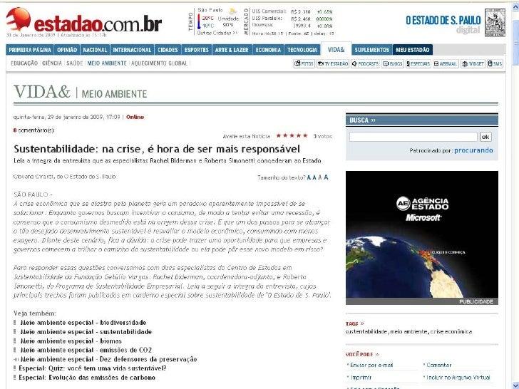 Entrevista Estadão