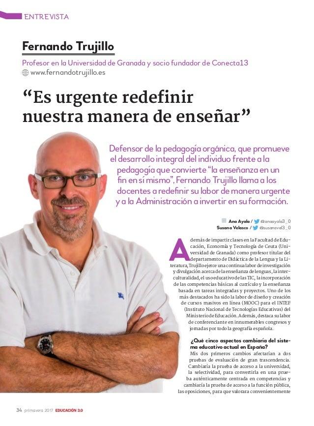 Entrevista en la Revista Educación 3.0 Slide 2