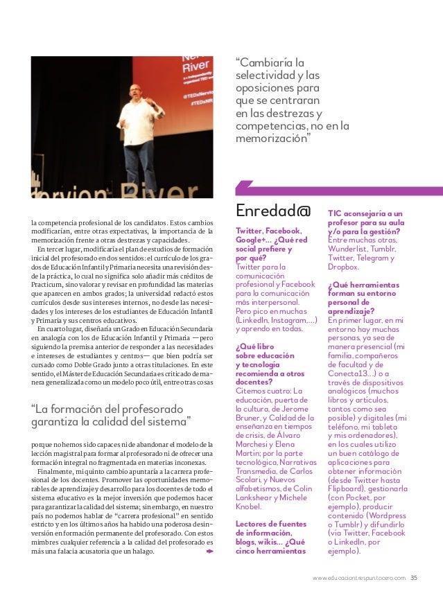 Entrevista en la Revista Educación 3.0 Slide 3