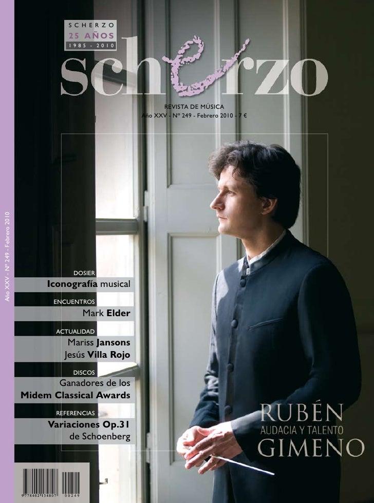 S C H E R Z O           25 AÑOS           1985 - 2010                                       REVISTA DE MÚSICA             ...