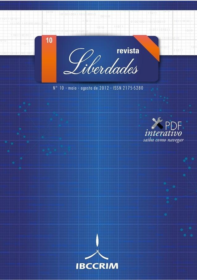 N° 10 - maio - agosto de 2012 - ISSN 2175-5280 10 PDF interativo saiba como navegar