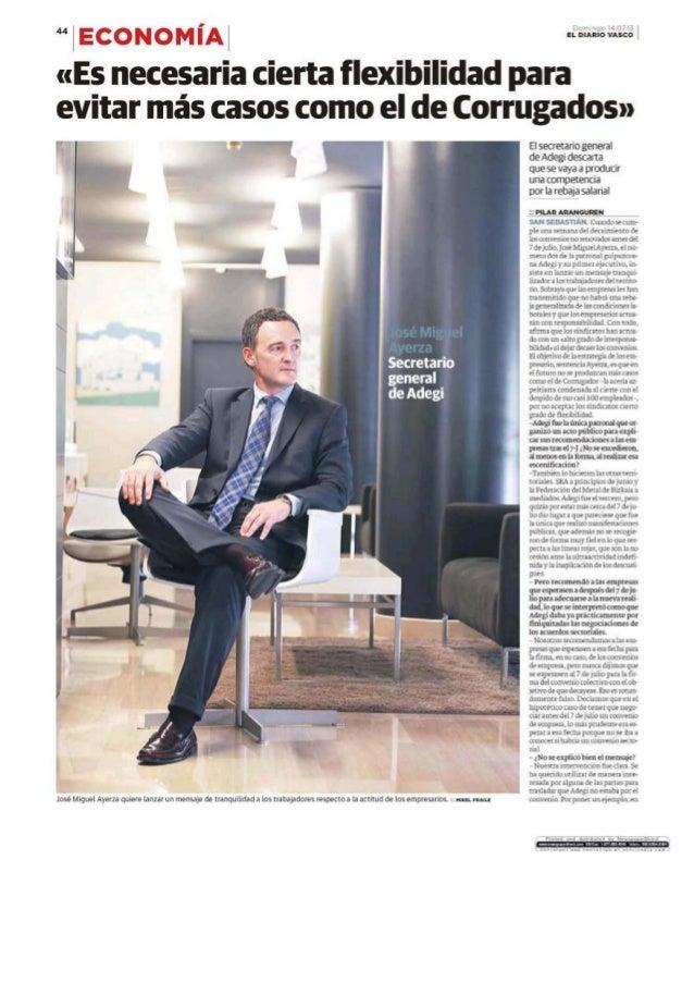 Entrevista Jose Miguel Ayerza- Secretario General de Adegi