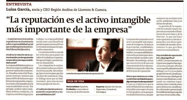 Gestión entrevista a Luisa García