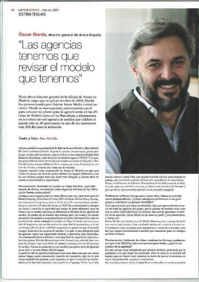 """""""Las agencias tenemos que revisar el modelo que tenemos"""", Óscar Dorda en La Publicidad"""