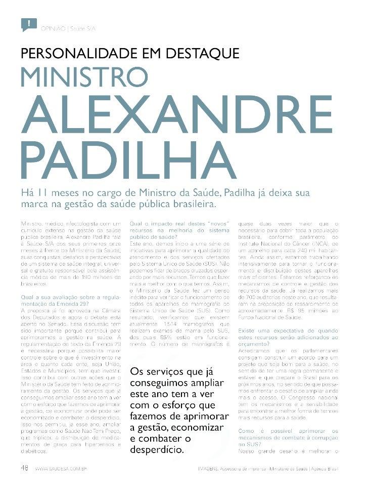 Entrevista I Alexandre Padilha