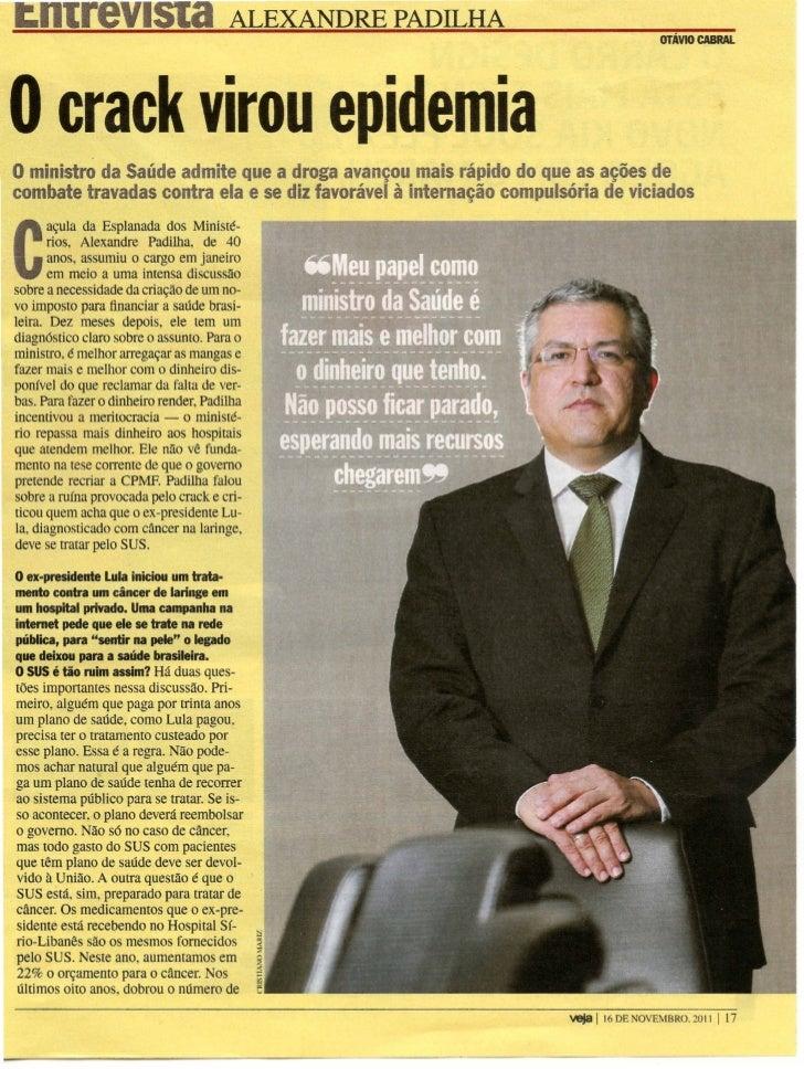 Entrevista à Revista Veja | Ministro Alexandre Padilha