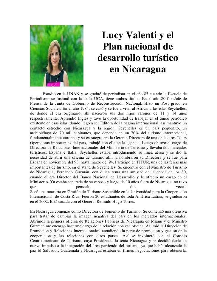Lucy Valenti y el                                         Plan nacional de                                        desarrol...