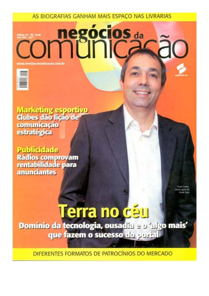 Entrevista revista negócios da comunicação   nº 32 - 2011-
