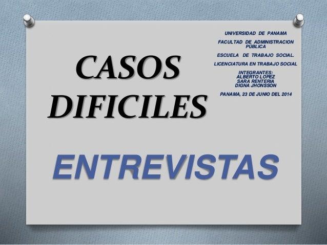 Entrevistas casos dificel en trabajo social - Casos practicos trabajo social ...