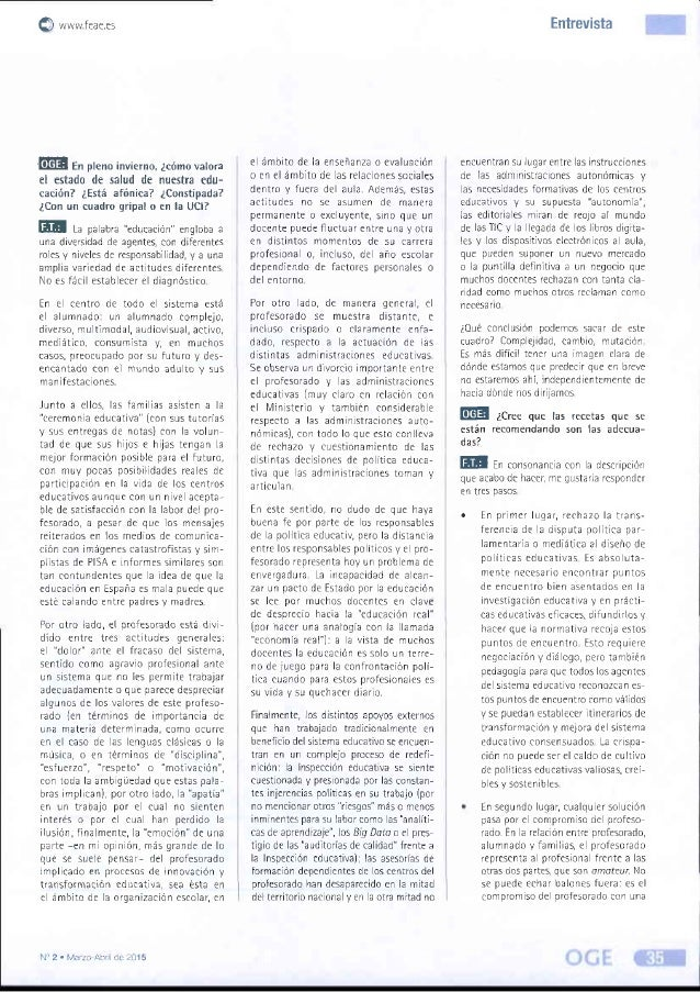 Entrevista a Fernando Trujillo - Organización y Gestión Educativa Slide 2