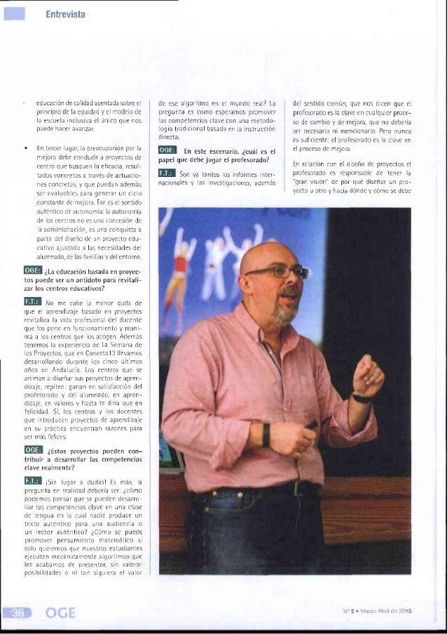Entrevista a Fernando Trujillo - Organización y Gestión Educativa Slide 3